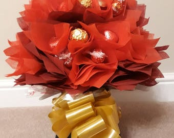 Valentines chocolate bouquet, Great chocolate gift, Chocolate treat bouquet for that someone special,