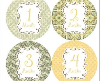 Willow cadres bébé Stickers mensuel