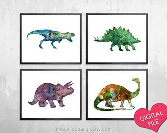 Dinosaur Wall Art, Dinosaur PRINTABLE, Printable Art, Dinosaur Decor, Dinosaur  Art Print, Dinosaur Watercolor Painting, Nursery Printables
