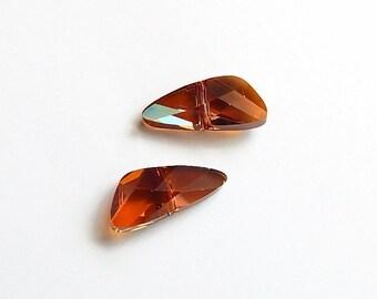 Swarovski 5590 Wings 7.5x18mm in crystal copper