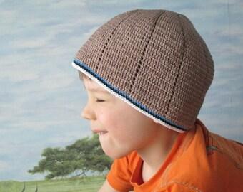 Handmade men's summer hat, men's cotton beanie,  Summer and spring bombull cap, men's croschet accessories, gigt for HIM