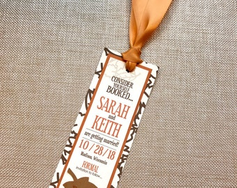Lovely Autumn Leaf Wedding Save the Date Bookmark... Sample