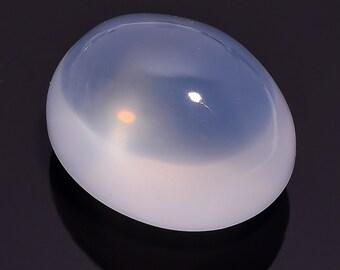 113.85 Ct 100% Natural Blue Milky Opal Quartz Oval Cabochon Loose Gemstone 32X26X20 HB-635