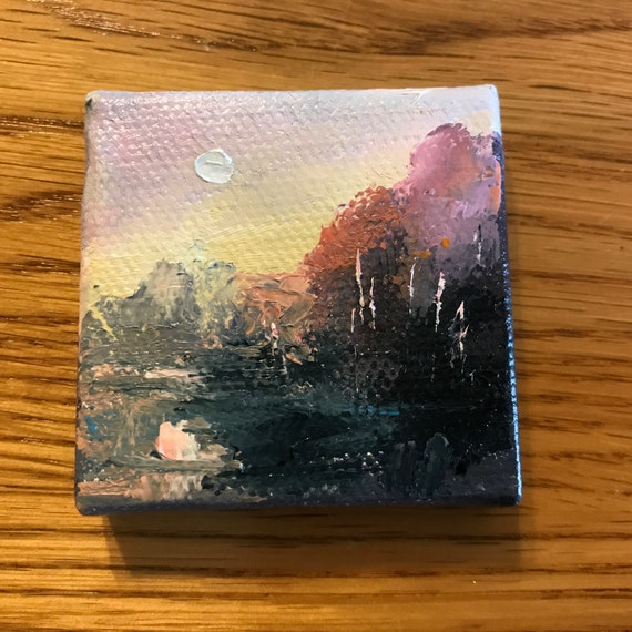 Miniatures, Sunrise Painting with Easel, The Sunrise, Small Art
