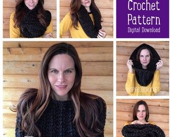 Crochet Pattern - Chunky Oversized Cowl - Scarf - Neckwarmer - Digital Download
