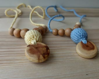 Organic Cotton Nursing Necklace /  Mom  Necklaces  - Choose Color -  Breastfeeding and Babywearing