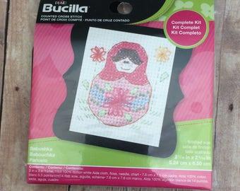Babushka Cross Stitch Kit by Bucilla