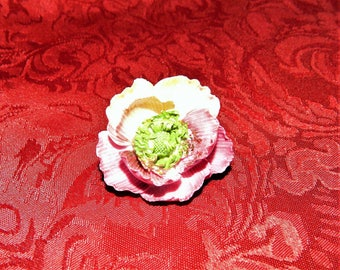 Vintage Single Flower Bone China Brooch Pin Made in England