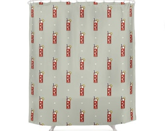 Mixed Shower Curtain - Icon Prints: Drinks Series