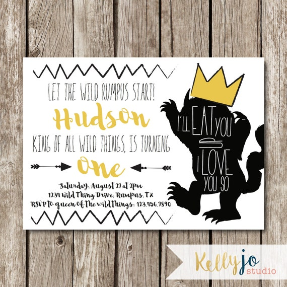 Where The Wild Things Are Birthday Party Invitation Wild One