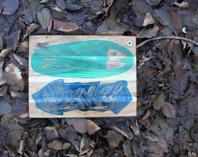 Fish and Moooules Cutting Board