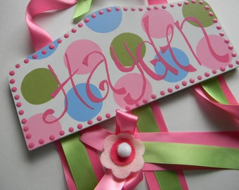 Personalized Bow holder - Custom Personalized Plaque Style