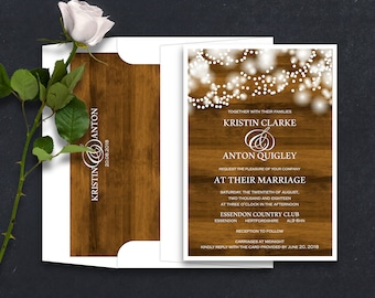Twinkly Lights, Rustic Wedding Invitations, Party Lights Invites