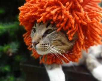 Lion Cat Costume, Lion Hat for Cats, Lion Costume for Cats, Lion Mane for Cats, Lion Mane Cat Costume, Lions Mane for Cats