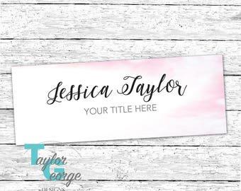 Facebook Cover Photo - Watercolor Banner - Social Media Kit - Pink Branding - Pink - Social Graphics - Facebook
