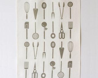 Linen Tea Towel - Cool Tools - Slate