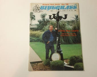 Bluegrass Unlimited Vol. 22, No. 11 (May 1988) - Little Roy Lewis cover ~ vintage 80s Music Magazine back issue