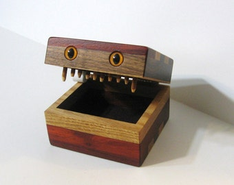 Creature Treasure Box Made Of Four Woods