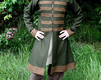 Early Medieval Scandinavian coat, Viking coat  form Birka, Historical Pattern , for Viking Reenactors, Viking Costume