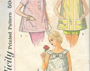 """Vintage 1958 Simplicity 2554 Maternity Tops Sewing Pattern Size 16 Bust 36"""""""