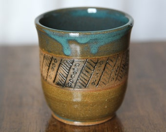 Rustic Hand Carved Tumblers