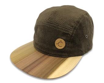 Corduroy cap with wooden brim TULIPWOOD