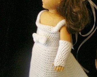 Wedding Dress Set for 18inch dolls Crochet Pattern PDF 161