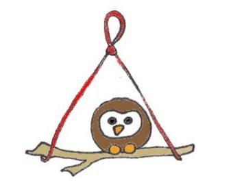 Owl on Twig Needle Felting kit