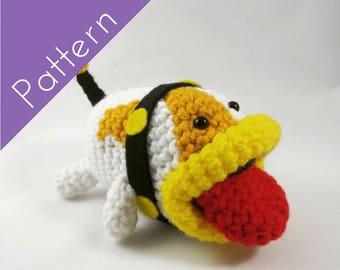 Poochy Amigurumi Crochet PATTERN- Yoshi's Woolly World