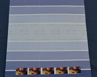 Turntables on blue stripes