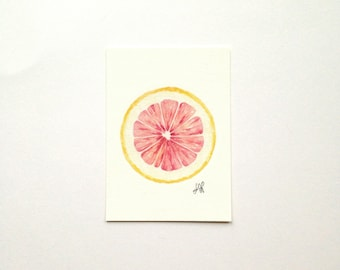 Grapefruit / Watercolor Illustration / Food Illustration / Art Print / Giclée Print / Wall Art / Home Decor