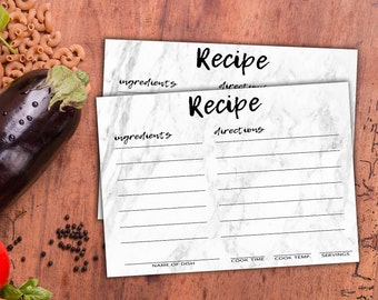 Recipe Card Printable | Recipe Cards | 5x7 Recipe Cards | DIY Recipe Cards | Digital Download | Recipe Digital Download