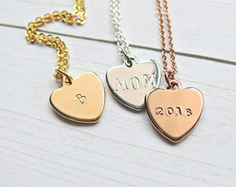 Personalized Heart Necklace, Initial Heart Necklace, Mothers Day Gift, Gift for Mom, Mothers Day Necklace, Gift for mothers