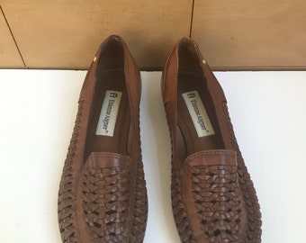 Etienne Aigner Huarache Leather Loafers
