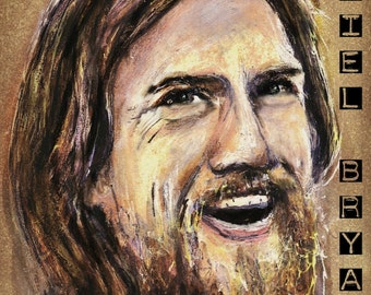 Daniel Bryan Copic Marker Drawing Art Print WWE Wrestling 11.7 x 16.5 inches