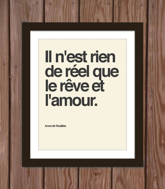 Items similar to French quote poster print: Nothing is ...
