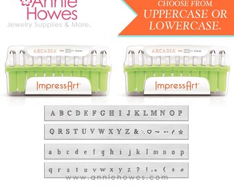 Metal Stamp Set. Impressart Alphabet Stamp Set - 3mm metal stamps - Arcadia Uppercase or Lowercase Set
