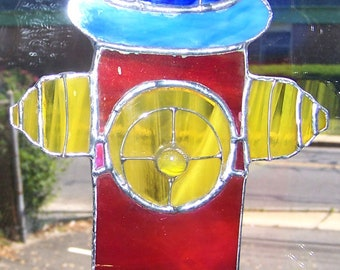Fire hydrant in stained glass