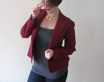 Vintage Burgundy Jacket - M/L