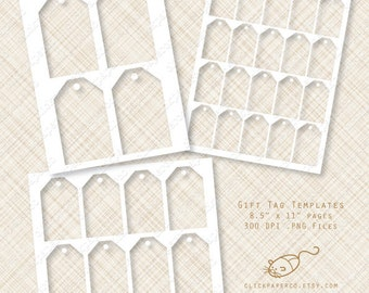 Gift Tag Template hang tags Multi Size Value Pack For Collage Sheets Printable Kits Small Business commercial use Instant Download png SALE