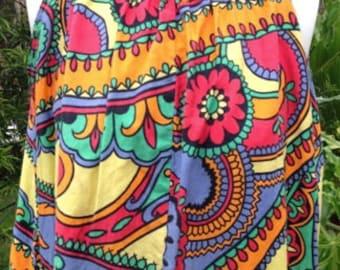Vintage paisly Maxi Dress Original 1970's
