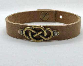 Infinity Leather Cuff