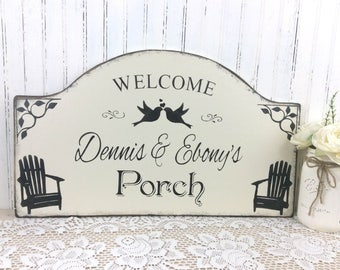 Personalized Porch sign, Front porch, back porch, custom cottage decor, custom Christmas gift, Welcome sign, welcome plaque