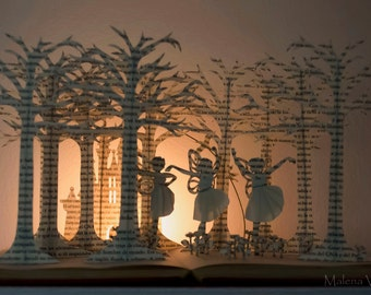 Three Fairies - Book Sculpture - Book Art - Made to Order