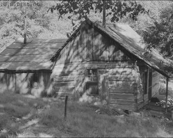 Poster, Many Sizes Available; Abandoned Log House. Border Of Newton And Mcdonald Counties Nara 283768