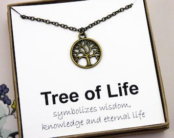 Tree of life bracelet bracelets with meaning tree bracelet antique brass tree of life necklace tree necklace tree jewelry jewelry with meaning rustic necklaces woodland necklace inspire mozeypictures Choice Image