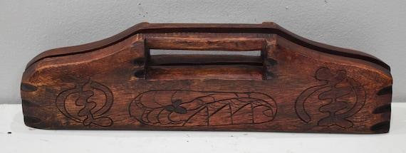 African Mancala Gameboard Carved Wood  Folding Case Kenya  Mancala Gameboard