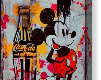 Mickey Mouse - Tribut - Andy Warhol  Street Art/PopArt/Canvas/ModernArt/Decorative/XXLCanvas/StreetArt/MickeyMouseArt/Coke/CocaCola/Vintage
