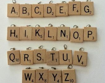 Scrabble Tile Charm Initial