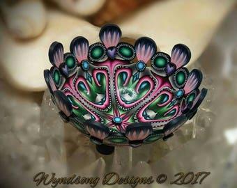 Tutti Fruitti Fairy Jewelry Ring Necklace Mini Altar Bowl Dresser Nightstand Polymer Clay